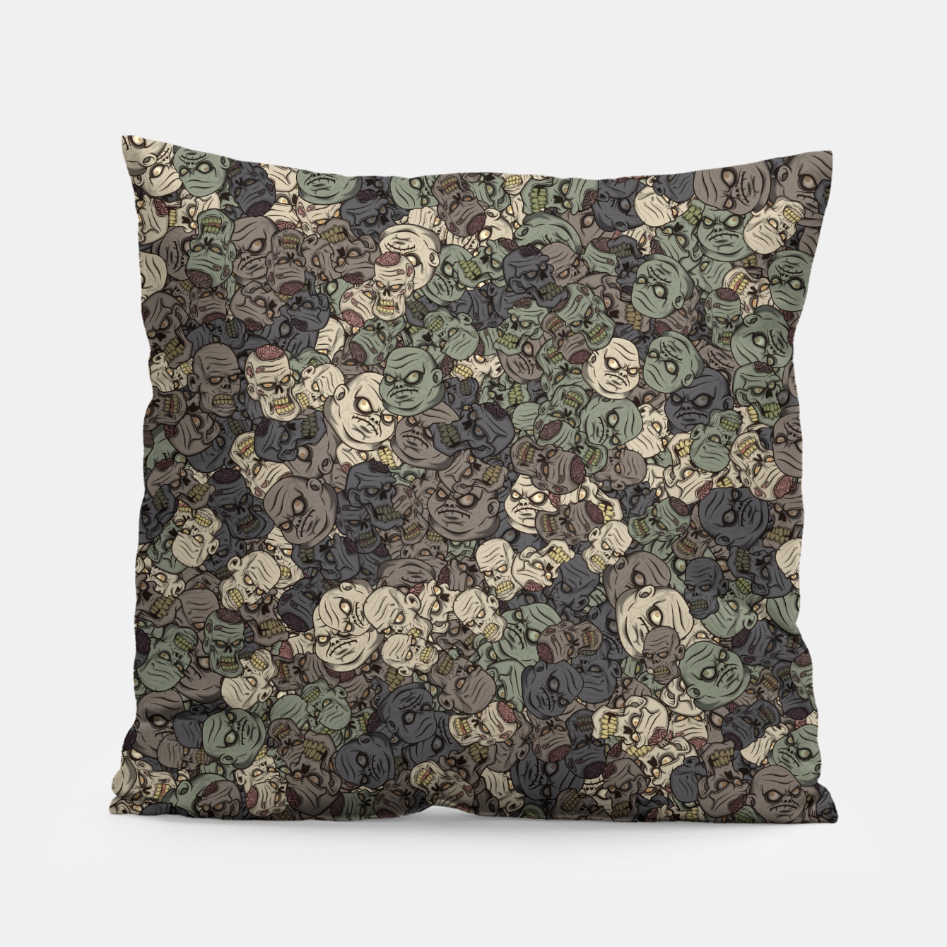 Image of Zombie camouflage Pillow - Live Heroes
