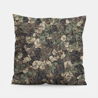 Zombie camouflage Pillow thumbnail image