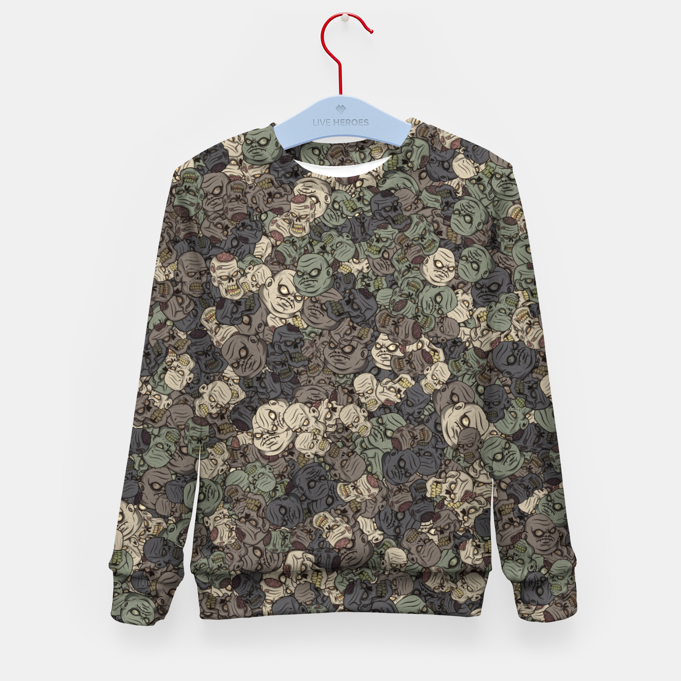 Image of Zombie camouflage Kid's sweater - Live Heroes