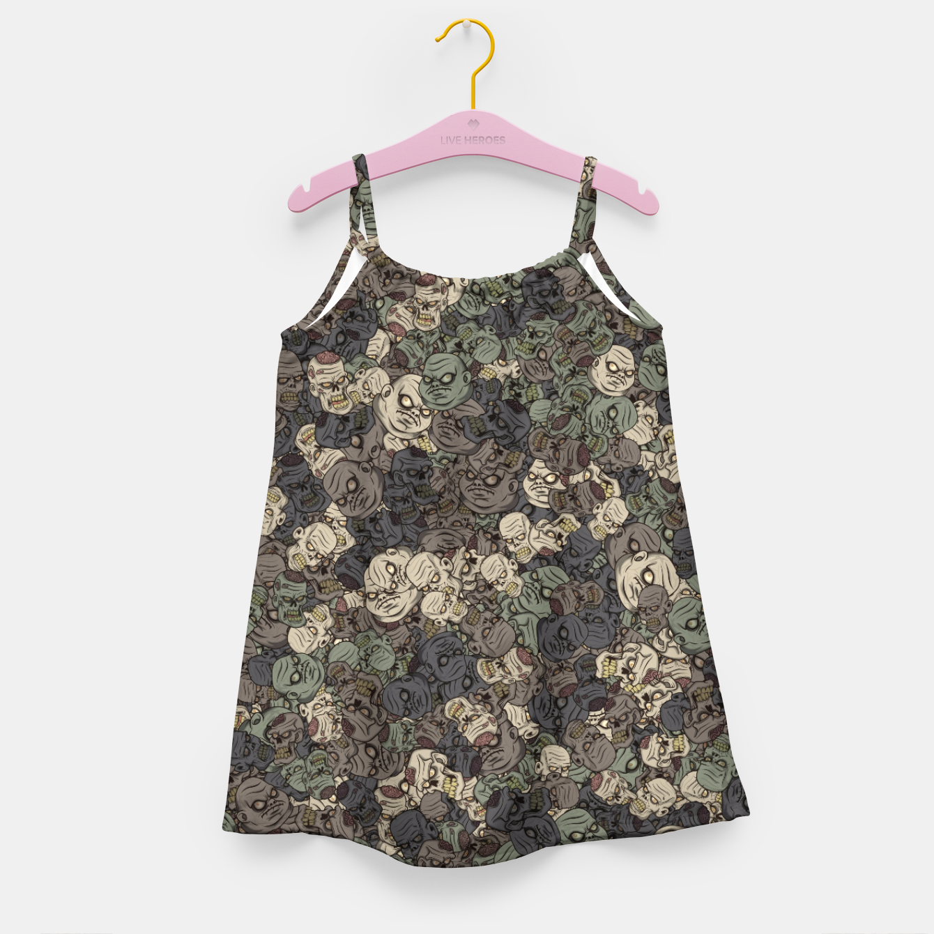 Image of Zombie camouflage Girl's dress - Live Heroes