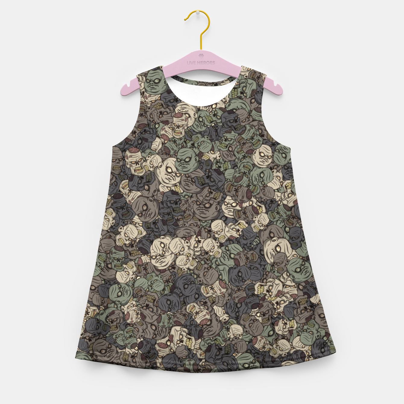 Image of Zombie camouflage Girl's summer dress - Live Heroes