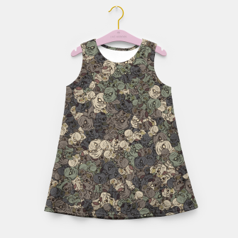 Thumbnail image of Zombie camouflage Girl's summer dress, Live Heroes