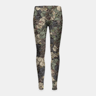 Thumbnail image of Zombie camouflage Girl's leggings, Live Heroes