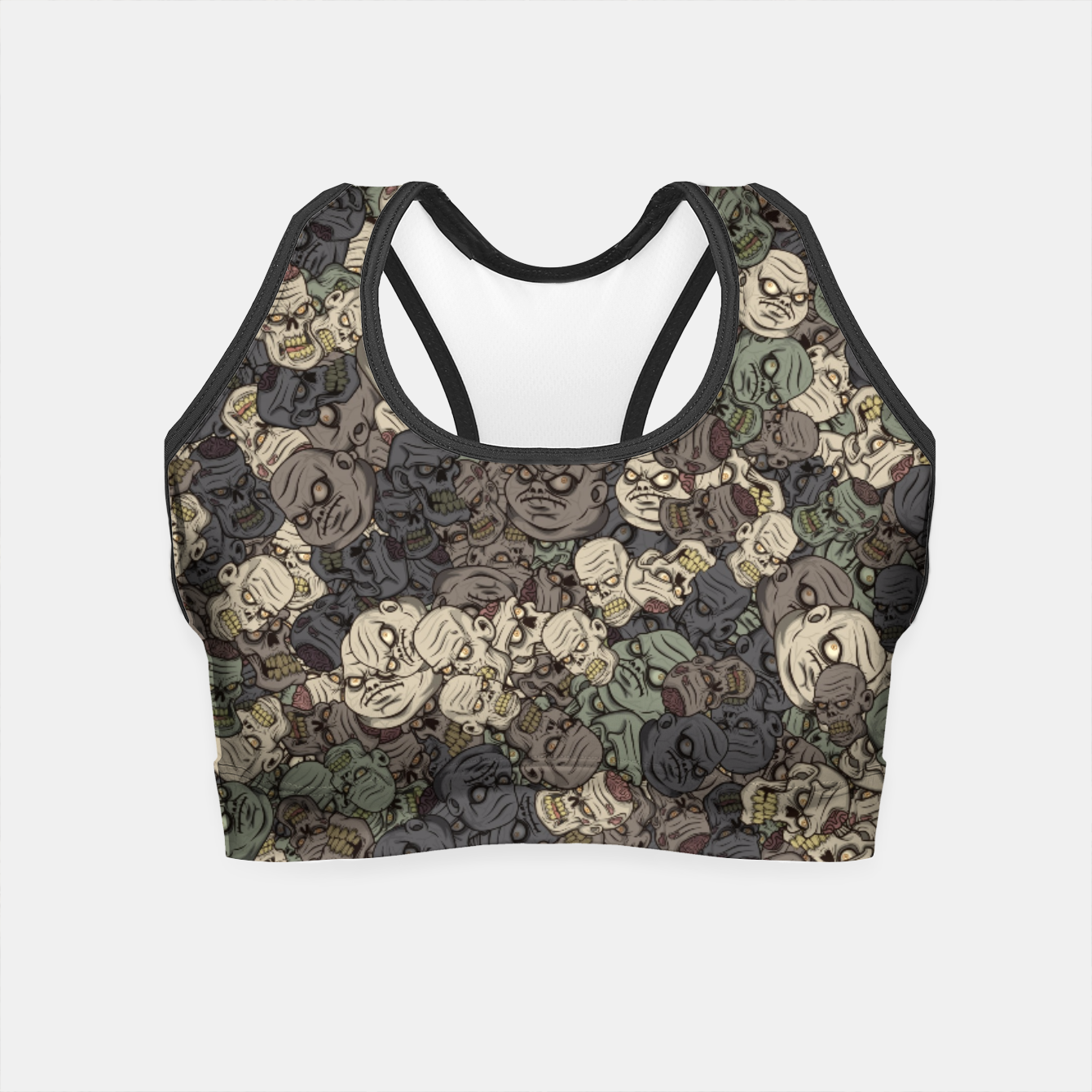 Image of Zombie camouflage Crop Top - Live Heroes