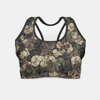 Zombie camouflage Crop Top thumbnail image