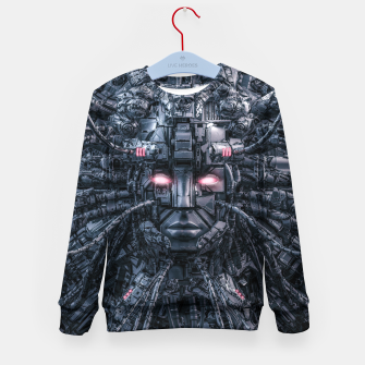 Miniatur Digital Goddess Reloaded Kid's sweater, Live Heroes