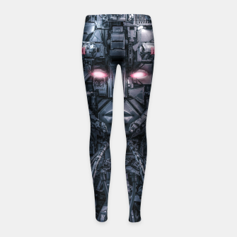 Digital Goddess Reloaded Girl's leggings Bild der Miniatur