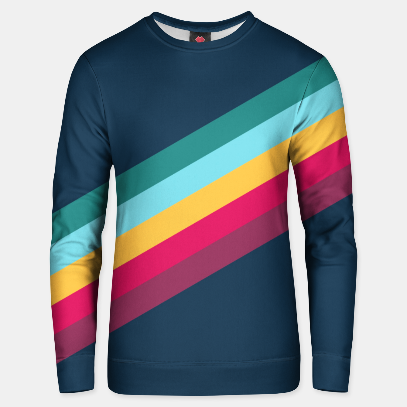 Foto Color Stripes Blue Unisex sweatshirt - Live Heroes
