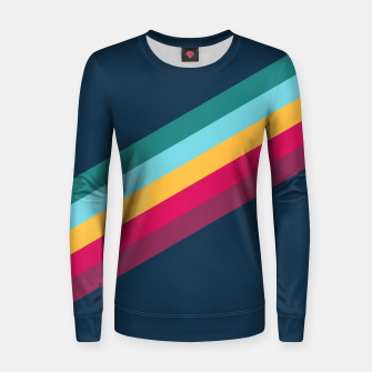 Color Stripes Blue Frauen sweatshirt Bild der Miniatur