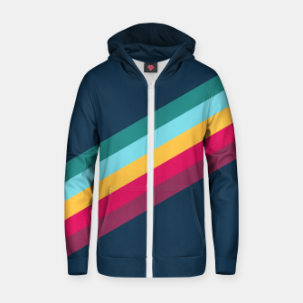 Thumbnail image of Color Stripes Blue Reißverschluss kapuzenpullover, Live Heroes