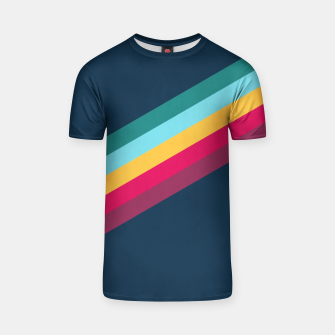 Color Stripes Blue T-Shirt Bild der Miniatur