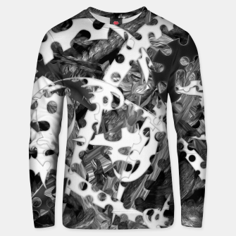 Thumbnail image of Black and white chains  Unisex sweater, Live Heroes