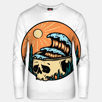 Thumbnail image of Skull & Wave Unisex sweater, Live Heroes