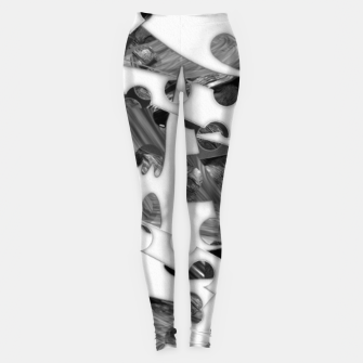 Black and white chains  Leggings imagen en miniatura