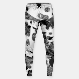 Black and white chains  Sweatpants imagen en miniatura