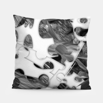 Black and white chains  Pillow imagen en miniatura