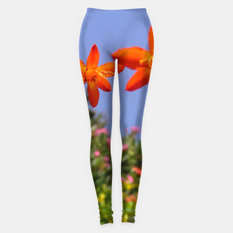 flower garden Leggings obraz miniatury