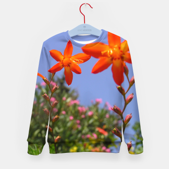 flower garden Kid's sweater obraz miniatury