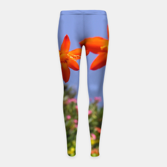 flower garden Girl's leggings obraz miniatury