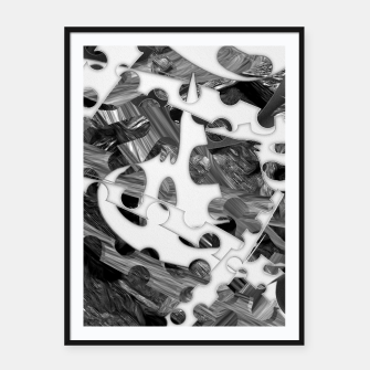 Black and white chains  Framed poster imagen en miniatura