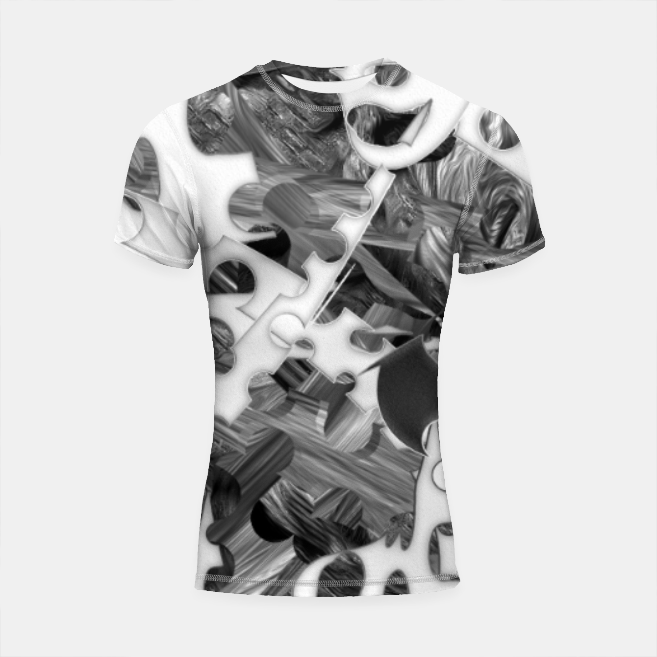 Imagen de Black and white chains  Shortsleeve rashguard - Live Heroes