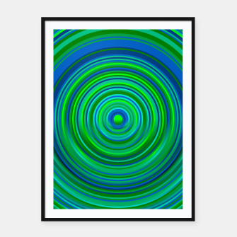 Thumbnail image of Word Spectrum: Hype-Green-Blue Framed poster, Live Heroes