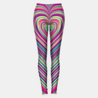 Thumbnail image of Word Spectrum: Hype-Funky-Heart Leggings, Live Heroes