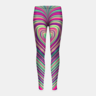 Thumbnail image of Word Spectrum: Hype-Funky-Heart Girl's leggings, Live Heroes