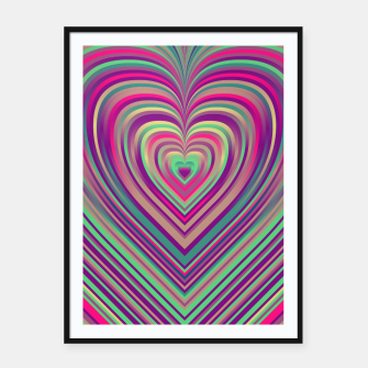 Thumbnail image of Word Spectrum: Hype-Funky-Heart Framed poster, Live Heroes