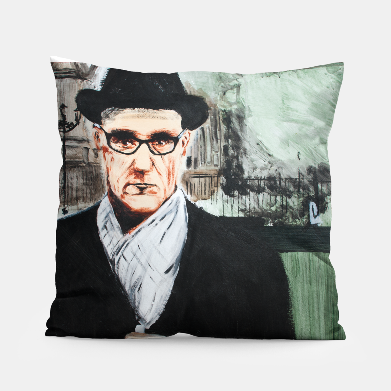 Image of Burroughs Pillow - Live Heroes