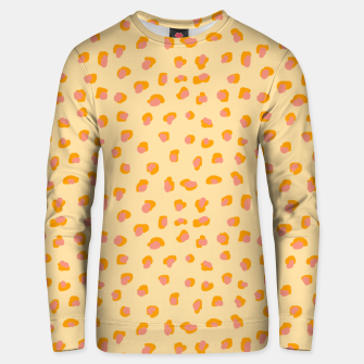 Thumbnail image of Cute saffron pink animal print  Unisex sweater, Live Heroes