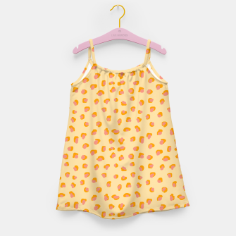 Thumbnail image of Cute saffron pink animal print  Girl's dress, Live Heroes