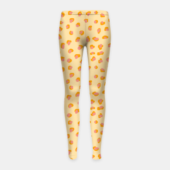 Thumbnail image of Cute saffron pink animal print  Girl's leggings, Live Heroes