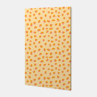 Thumbnail image of Cute saffron pink animal print  Canvas, Live Heroes