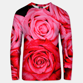 Thumbnail image of Romantic Red Roses Unisex sweater, Live Heroes