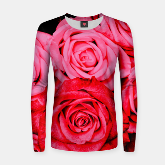 Miniatur Romantic Red Roses Women sweater, Live Heroes
