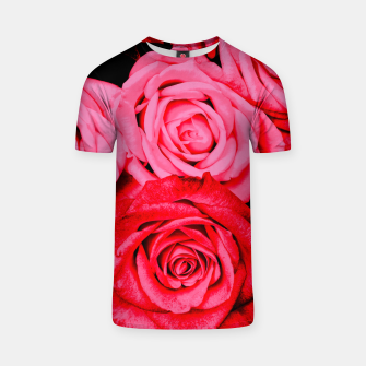Miniatur Romantic Red Roses T-shirt, Live Heroes