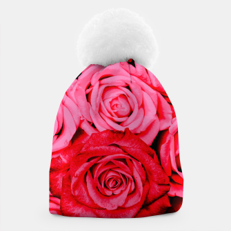 Miniatur Romantic Red Roses Beanie, Live Heroes