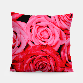 Miniatur Romantic Red Roses Pillow, Live Heroes