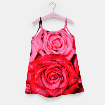 Miniatur Romantic Red Roses Girl's dress, Live Heroes