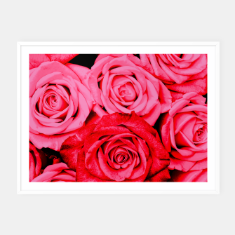 Miniatur Romantic Red Roses Framed poster, Live Heroes