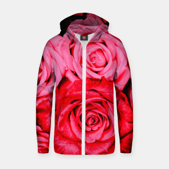 Miniatur Romantic Red Roses Zip up hoodie, Live Heroes