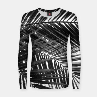 Thumbnail image of Tropical Palm Leaves - Black and White Women sweater, Live Heroes
