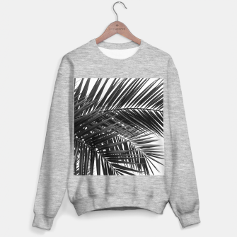 Miniatur Tropical Palm Leaves - Black and White Sweater regular, Live Heroes