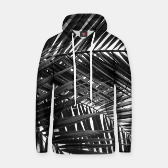 Thumbnail image of Tropical Palm Leaves - Black and White Hoodie, Live Heroes