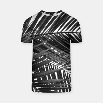 Miniatur Tropical Palm Leaves - Black and White T-shirt, Live Heroes