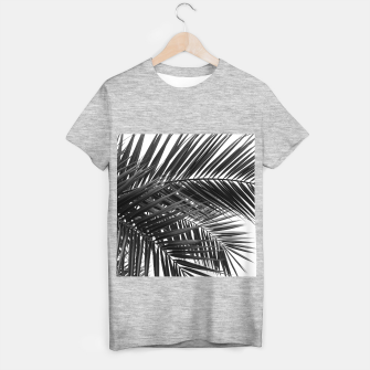 Miniatur Tropical Palm Leaves - Black and White T-shirt regular, Live Heroes