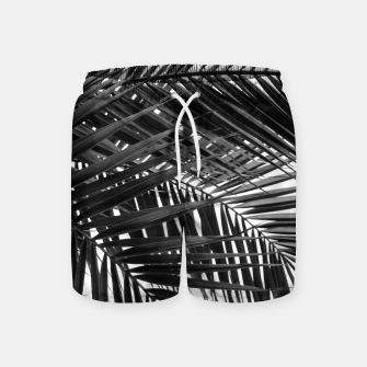 Thumbnail image of Tropical Palm Leaves - Black and White Swim Shorts, Live Heroes