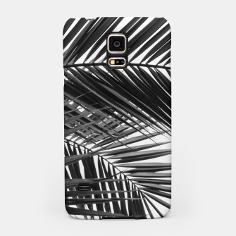 Miniatur Tropical Palm Leaves - Black and White Samsung Case, Live Heroes