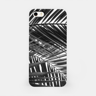 Miniatur Tropical Palm Leaves - Black and White iPhone Case, Live Heroes
